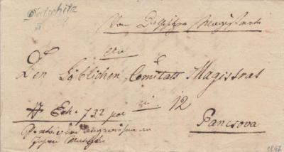 5.11.1847, úřední dopis Pancsova/Maďarsko/
