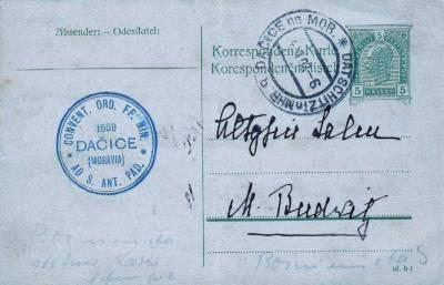 1908 z konventu kláštera