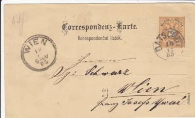 Correspondenz Karte 19.12.1885