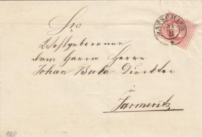 1868 Datschitz - 6.emise -5 Kr grober druck