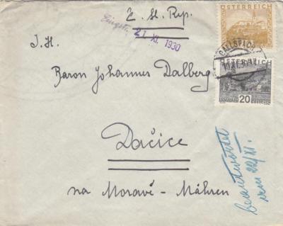 Dalberg Rakousko 1905-1934