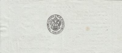 14.12.1840, potvrzení o odeslání cenného psaní s hotovostí do Vídně, vystavené poštou Dačice, podpis FOIT