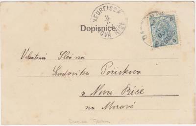 8.6.1903 dopisnice Dačice - Nová Říše