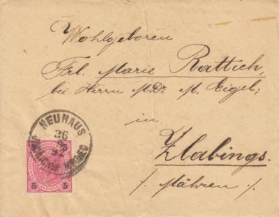 26.9.1892 dopis z Jindřichova Hradce do Slavonic