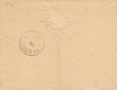 26.9.1892 dopis z Jindřichova Hradce do Slavonicpříchozí razítko Slavonice / Zlabings
