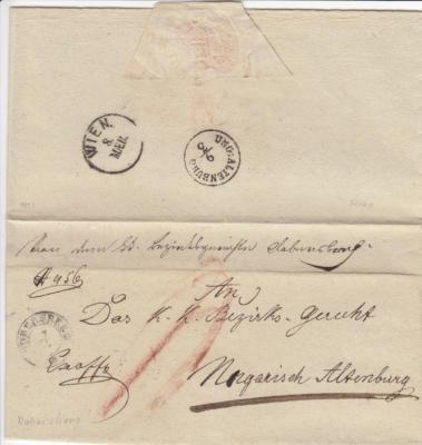 1.3.1851 Bezirksgericht Dobersberg Ex Offo Ungarisch Altenburg