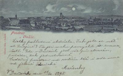 Dopisnice 11.12.1898