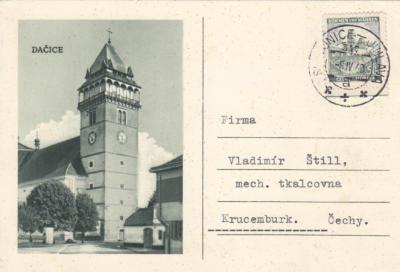8.4.1940 vlaková pošta 517 trať Slavonice Jihlava