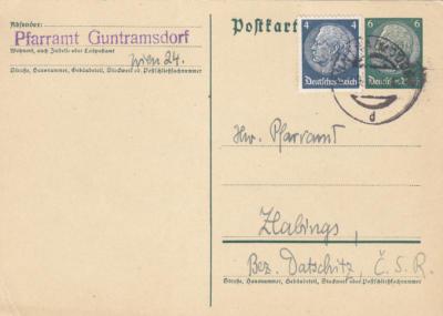 Z-Deutsch. - Postkarte 1933-1945