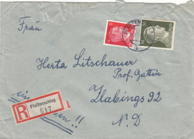 Pfaffenschlag R-Brief 18.11.1943