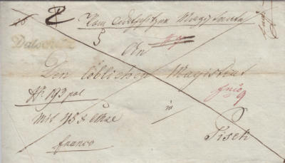 1837 cenné psaní 43 fl, franco Písek
