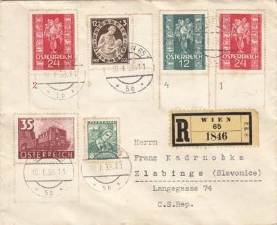 07.05. - přidána obálka příchozí Slavonice R 10.1.1938
