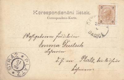 Correspondenz-Karte Datschitz