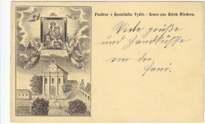 Kostelní Vydří - kolem 1910