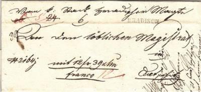 8.12.1840 - dopis s fin.hotovostí z Uh.Hradiště na magistrát Dačice