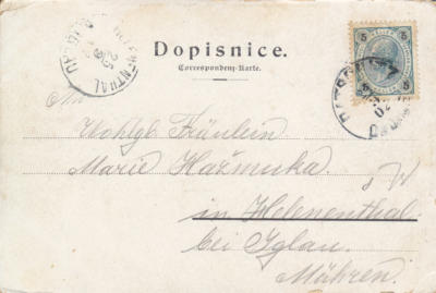24.9.1902 Dačice - Helenín u Jihlavy