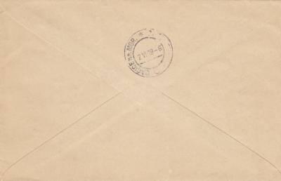 2.6.1919 doporučený dopis Telč-Dačice - vylomené razítko bez německého textu