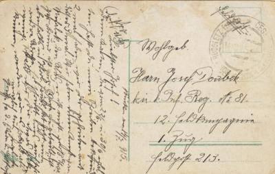 14.7.1915 Český Rudolec - Doubek majitel vodní pily Penikov
